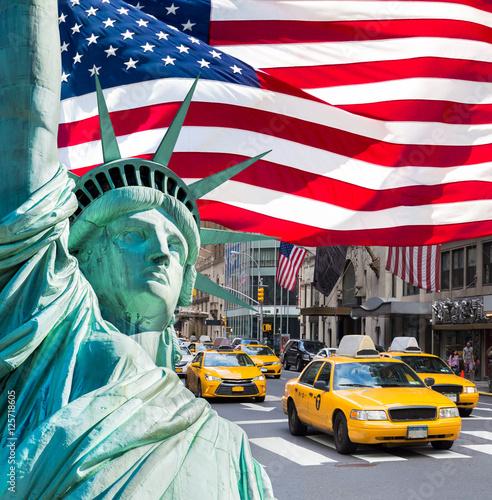new york city fotocollage stockfotos und lizenzfreie bilder auf bild 125718605. Black Bedroom Furniture Sets. Home Design Ideas