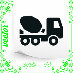 Mixer truck icon