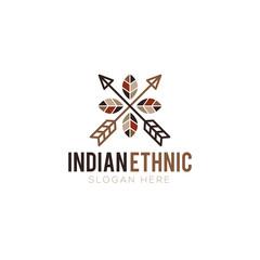 Ethnic logo design vector
