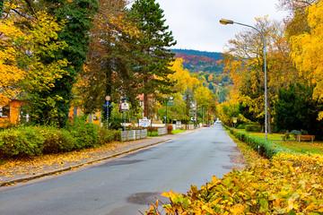 A empty Street in Bad Blankenburg