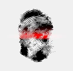 Ray scanner scan fingerprint