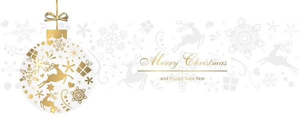 Weihnachtlicher Hintergrund mit Christbaumkugel
