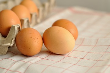 Eggs with box of eggs