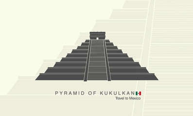 Mayan pyramid of Kukulkan in Mexico