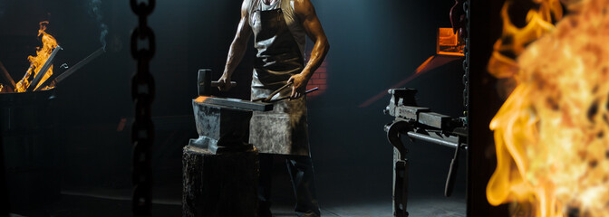 Blacksmith working