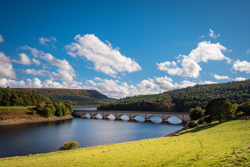 Ladybower Reservoir and Bamford Edge, are located in the Upper Derwent Valley, at the heart of the Peak District National Park Wall mural