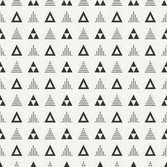 Geometric line monochrome abstract hipster seamless pattern with triangle. Wrapping paper. Scrapbook. Print. Vector illustration. Background. Graphic texture for your design, wallpaper.