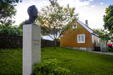 Edvard Munch's house and his monument