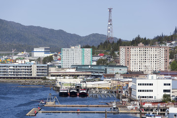 Alaskan Town Skyline