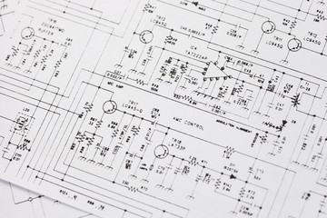 Electronics engineering drawing or circuit schematic