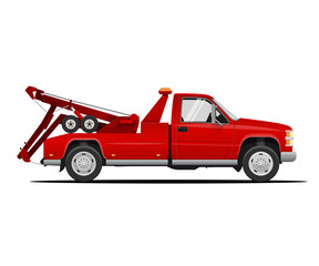 Tow Service Truck. Vector Illustration