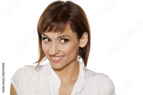 U0026quot;Portrait Of Smiling Beautiful Middle-aged Woman With Makeupu0026quot; Stock Photo And Royalty-free ...