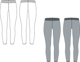 Women's leggings sporty chic
