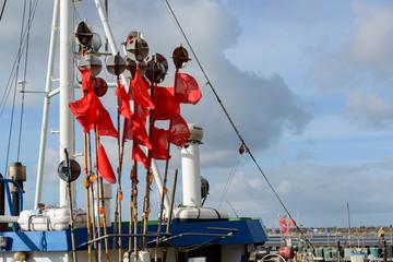 Bojen zum ausbringen der Fischernetze
