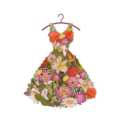 The dress of flowers