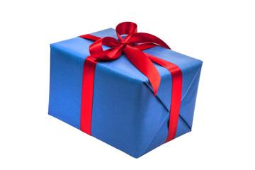 Blaues Weihnachstgeschenk