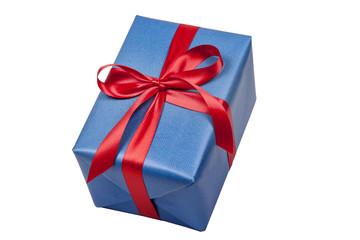 Blaues Geschenk