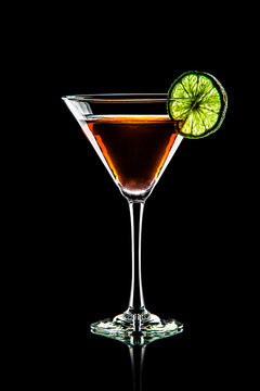 Martini with Lime - Beverage Photography