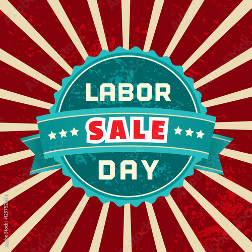 """Labor Day Weekend Sale: """"Happy Labor Day. Typography Poster Concept. Special Sale"""