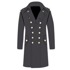 Grey trench coat