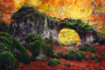 Wall Mural - natural stone bridge in Urbasa Natural Park