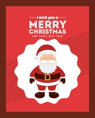 happy merry christmas card vector illustration design
