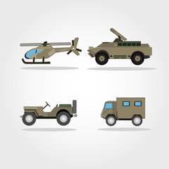War Vehicles vector illustration. Army Vehicle vector illustration