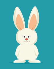 bunny cartoon white rabbit vector illustration eps 10