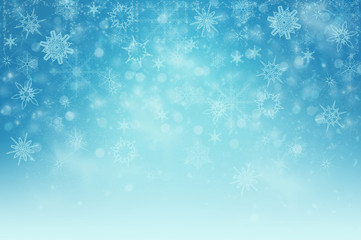 Winter background with snow flakes