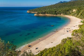 beach bay in Portinho da Arrabida, Portugal