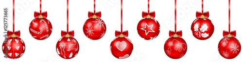 Weihnachtskugeln rot stockfotos und lizenzfreie vektoren auf bild 125773665 - Weihnachtsbaumkugeln schwarz ...