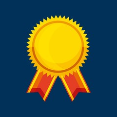 winner medal isolated icon vector illustration design