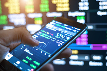 Making trading online on the smart phone. New ways to make econo