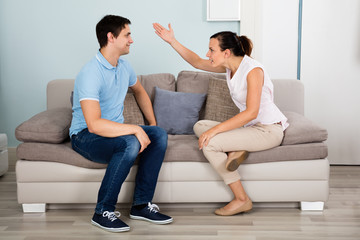 Couple Having Argument At House