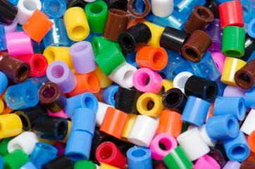 .Beads of various colors, beautiful