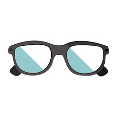 glasses eyewear accessory icon over white background. vector illustration