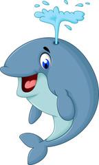 cute whale cartoon close up