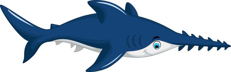 funny saw shark cartoon for you design