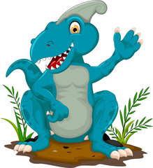 cute tyrannosaurus cartoon sitting for you design