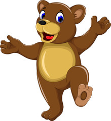 happy bear cartoon for you design