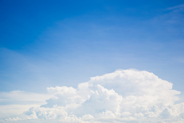 Canvas Prints Group of cloud in blue sky background.