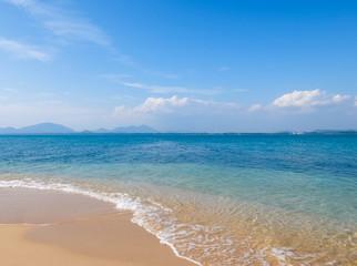 Beach and tropical sea in summer season