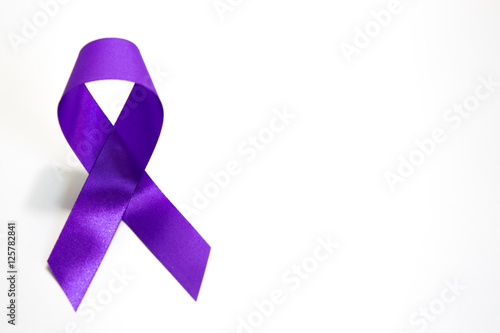 Awareness Violet Or Purple Ribbons Of Common Cancer For Symbol Of