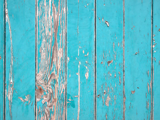 blue planks background or wooden boards texture