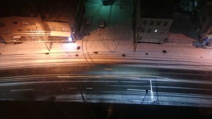 Winter road of jozankei hotspring