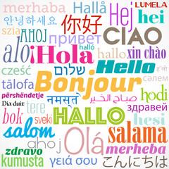 """mot""""bonjour"""",multilingue"""