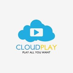 Cloud Play Logo Template Design. Vector Illustration