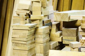 Warehouse lumber. carpentry workshop