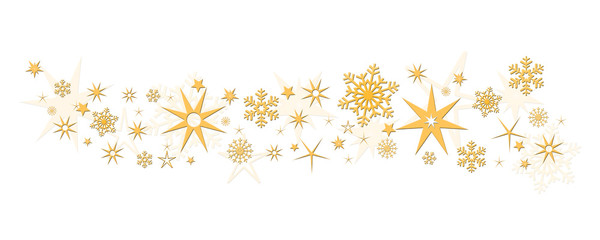 Christmas decoration stars snowflakes