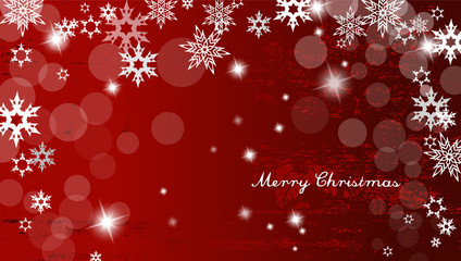 Abstract background with snowflakes and Merry Christmas text - h